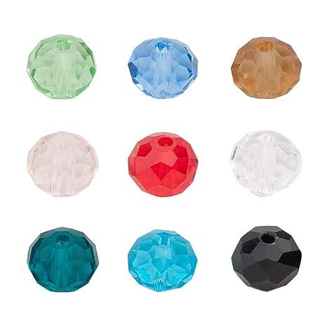 Houlife - Abalorios redondos de cristal, 300 unidades, 8 mm ...