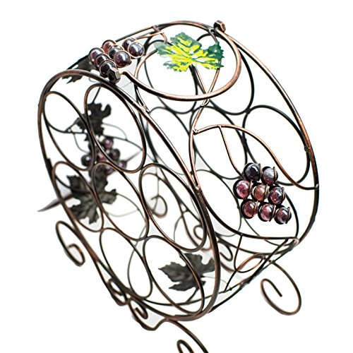 Grape Wine Bottle Display,Fashion Wine Rack,2PCS Grape Wine Bottle Display/,Fashion Wine Rack Metal ADOUS HOUSE Stackable Wine Rack for Counter Holds 8 Bottles, Wine Bottle Organizer
