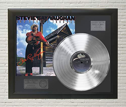 (Stevie Ray Vaughan - Soul To Soul Framed Platinum LP Reproduction Signature Display