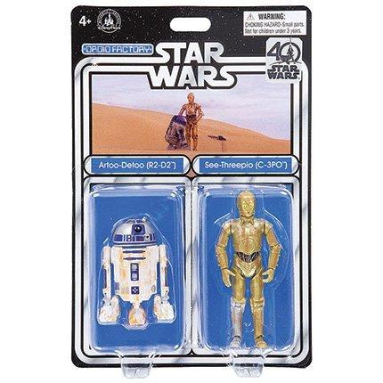 スターウォーズ 40周年記念 USAディズニーパーク限定 ドロイドファクトリー 3.75インチ ベーシックフィギュア 2パック アートゥーディートゥー & シースリーピオ / STAR WARS 40TH ANNIVERSARY 2017 DROID FACTORY ARTOO-DETOO & SEE-THREEPIO (R2-D2 & C-3PO)R2-D2 C-3PO [並行輸入品] B072BH8M8X