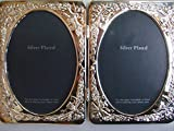 Elite Silver Plated Standing Photo Picture Frame ; Holds Two 3.5'' x 5'' Photos