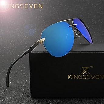 cc1775ccea KINGSEVEN Aluminum Magnesium Polarized Sunglasses Men Driver Mirror Sun  glasses Male Fishing Female Eyewear For Men  Amazon.in  Clothing    Accessories