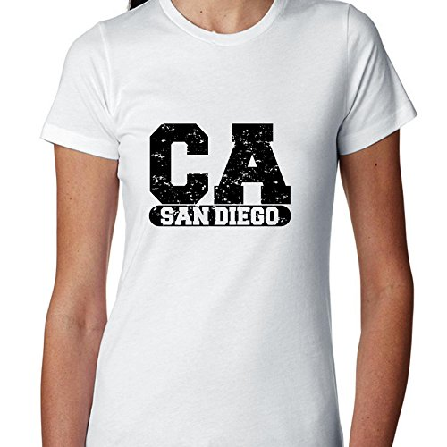 Hollywood Thread San Diego, California CA Classic City State Sign Women's Cotton T-Shirt for $<!--$21.90-->