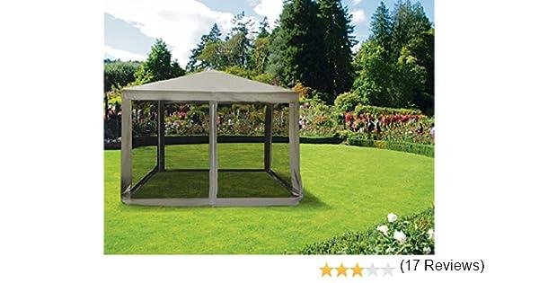 Galileo Casa 2179285 Cenador con Mosquitera de 3 x 3 m, en Beige: Amazon.es: Jardín