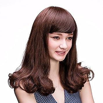Zhudj Perücke Mädchen In Mittellanges Haar Lange Locken