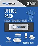 ROBO 3D Printer Certified Print Pack, 20 Office Themed 3D Print Design Files
