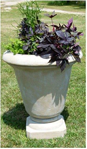 Set of 2 Limestone Finished Outdoor Patio Garden Genoa Urn Planters 30