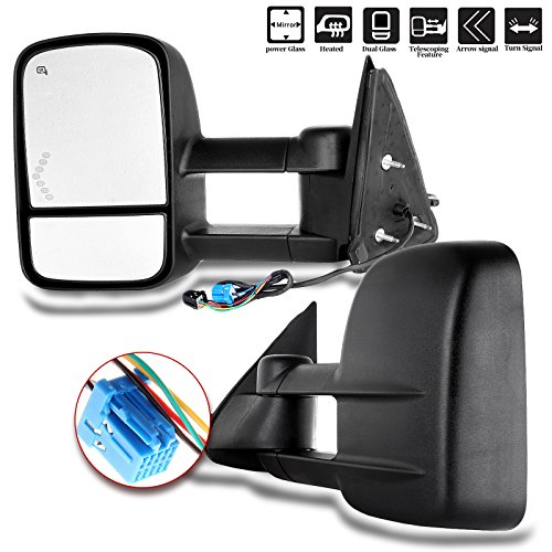 Pickup Power Heated Mirror (Scitoo Pair Power Towing Side View Mirrors Heated Signal Replacement for Chevy GMC Pickup Truck Driver Passenger GM1320355 GM1321355)