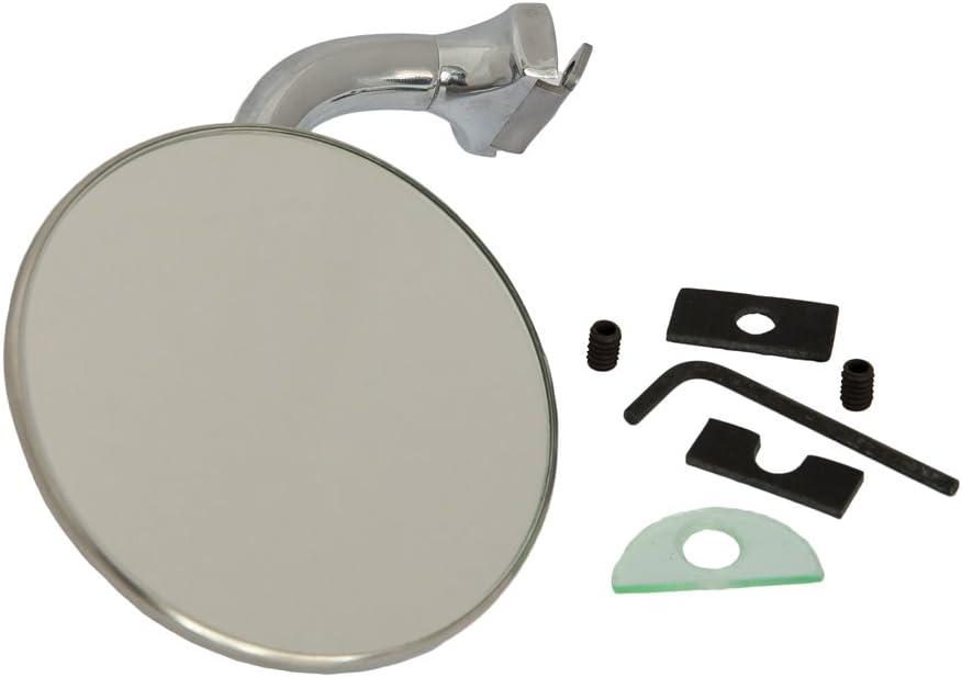 Motamec Classic car 024/porta laterale specchietto x2/braccio curvo tondo in acciaio cromato