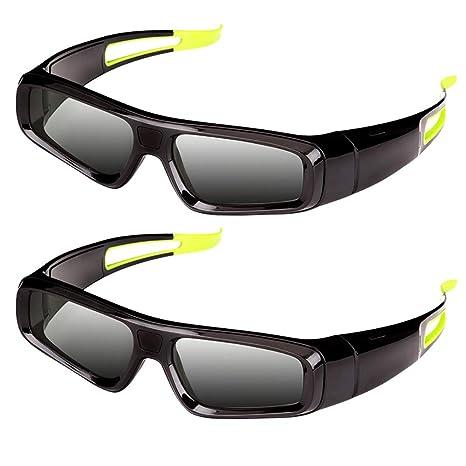 Gafas 3D Dlp, Gafas 3D Lujosas para Proyector De TV Obturador ...