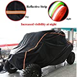 #7: Black UTV Cover KEMIMOTO RZR Storage Cover Protect Your SxS Off-road Vehicle from Rain, Snow, Dirt, Debris and Damaging UV Rays-Reflective Strip for Increased Visibility