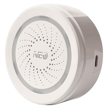 LOLOP Sirena USB Sensor de Alarma Inteligente Inalámbrico ...