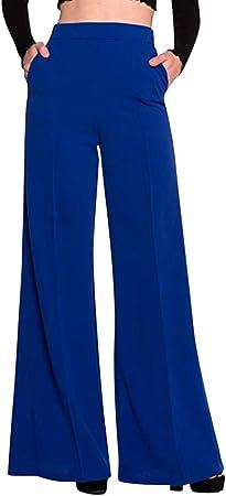 Sunnsean Pantalones Acampanados Plisados De Color Solido Pantalones Elegantes De Cintura Alta Para Mujer Pantalones Casual Formales De Oficina Pantalon Largo Amazon Es Instrumentos Musicales