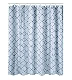 Fish Tales Shower Curtain AJ-Home Mermaid Tail Scale Geometric Shower Curtain,Non-Toxic and Odorless Water Repellent Fabric Fairy Tales Ocean Theme Silver Bathroom Decor,Silver Fish Scales 60 Inch by 72 Inch