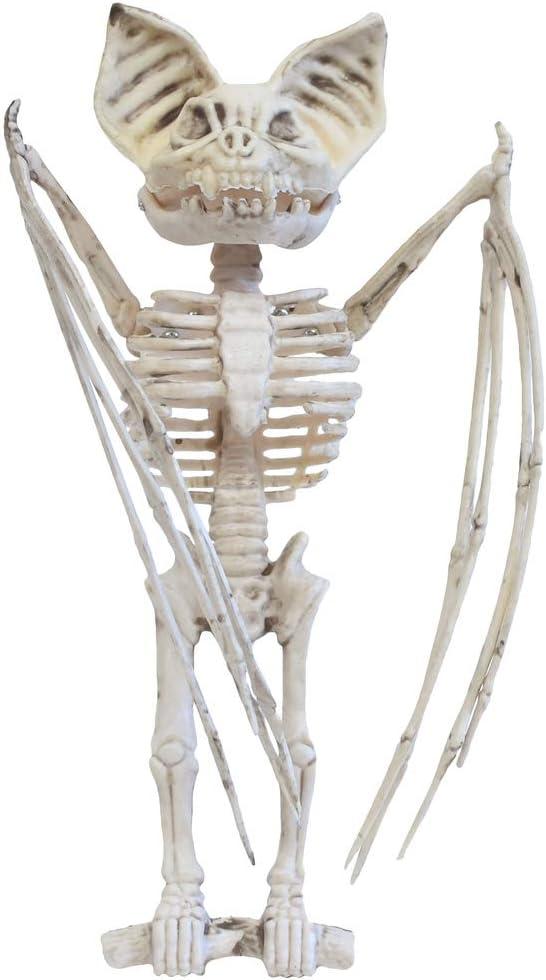 TG,LLC Treasure Gurus Hanging Bat Animal Skeleton Scary Halloween Decor Indoor Outdoor Haunted House Prop Bones