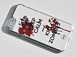 1888998160253 [Global Case - Exclusive Offer] Keep Calm and Kill Zombies Walking Dead Death Zombies Dead Alive Bullet Gun Shoot Keep Calm and Kill Zombies Bloody Evil Army Special Forces Resident Evil (TRANSPARENT CASE) Snap-on Cover Shell for Apple iphone 6 plus