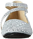 KD 50 KS Little Girls Ballet Ballerina Flats Silver Glitter