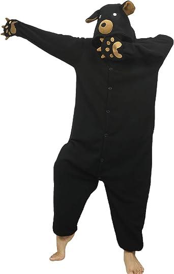dressfan Unisexo Oso Pijamas Animales Traje de Dormir Cosplay Disfraz Homewear Mamelucos Ropa De Dormir Comodidad Suave Festival de Carnaval Halloween ...