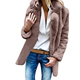 DaySeventh Clothes Womens Ladies Warm Artificial Wool Coat Jacket Lapel Winter Outerwear