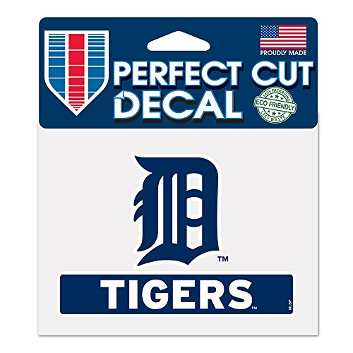 Decal Mlb Detroit Tigers (MLB Detroit Tigers WCR17908014 Perfect Cut Color Decal, 4.5