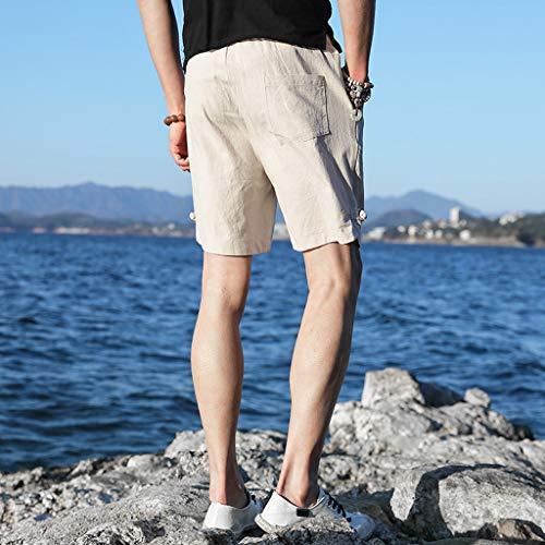 In Bagno Fare Moda Pantaloni Estate Nuoto Corti Sport Bianca Uomo Cintura Surf Spiaggia Da Esecuzione Coulisse Pantaloncini f7w4q4