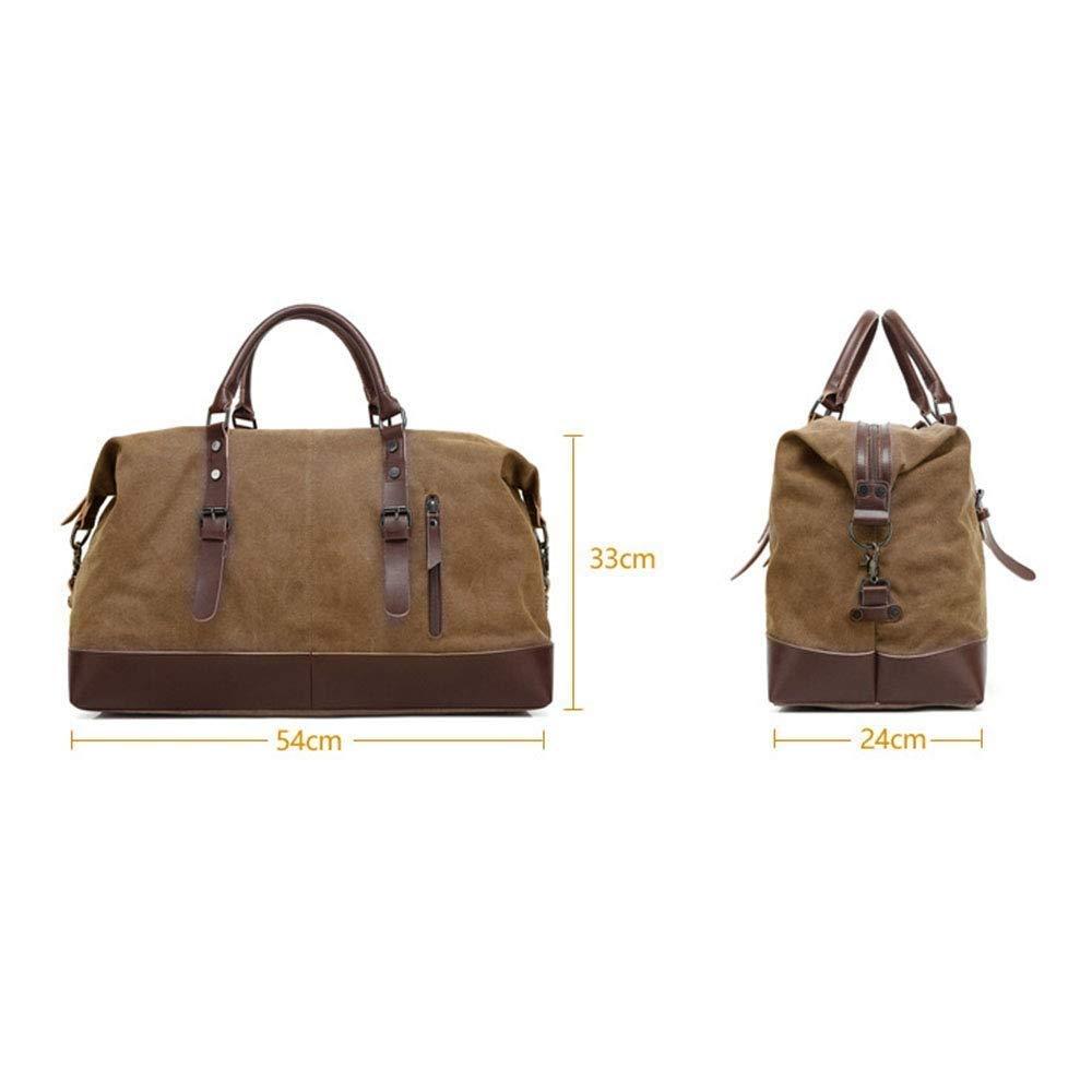 Moontang Reisetasche, Outdoor Outdoor Outdoor Gepäck Tasche, Herren und Damen, lässig, Canvas, Schultertasche tragbar, Leder, braun, B07HGMJQ4Q Schultertaschen Schnäppchen 11bbaf