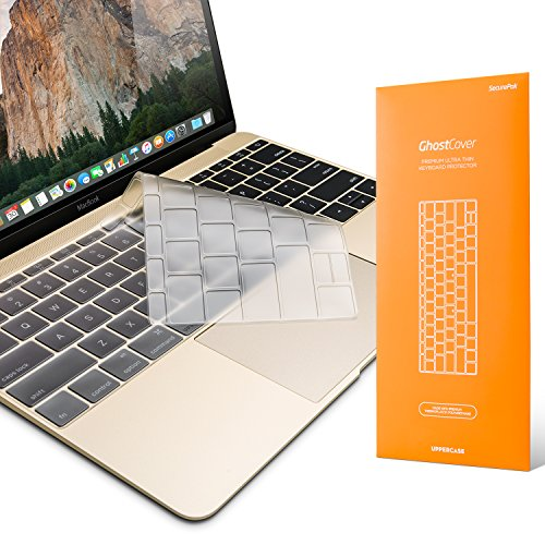 "UPPERCASE Premium Ultra Thin Keyboard Protector with US/EU Compatible Keyboard Layout for MacBook 12"" and MacBook Pro 2016 without Touch Bar"