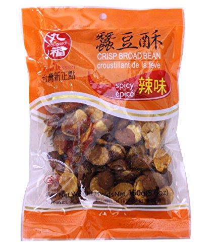 蠶豆酥 Nice Choice Crispy Fried salty Broad Bean (candou) 5.6 oz (6 (Nice Crisp)