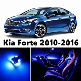 10pcs LED Premium Blue Light Interior Package Deal for Kia Forte 2010-2016