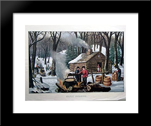 - Maple Sugaring 20x24 Framed Art Print by Currier and Ives