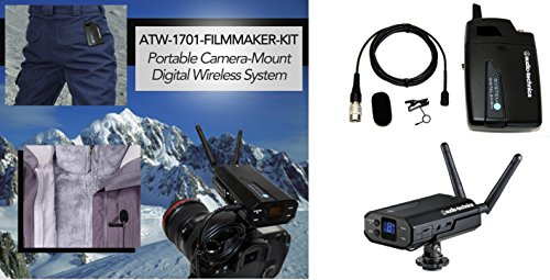 Audio Technica System 10 ATW-1701 Portable Camera Mount Wireless System with FREE professional omni-directional lapel microphone by Audio-Technica