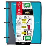 Five Star Flex Hybrid NoteBinder, 1 inch Ring Binder, Notebook and Binder All-in-One, Teal (73420)