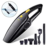 ELE KING Cordless Car Vacuum, Powerful Portable Vacuum Cleaner Strong Suction Handheld and Household Auto Vacuum Cleaner for Deep Cleaning in Car and Home (Newest GEN)