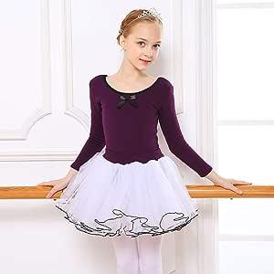 KUHU Ropa de Baile para niñas Ropa de Baile para niños Falda de ...