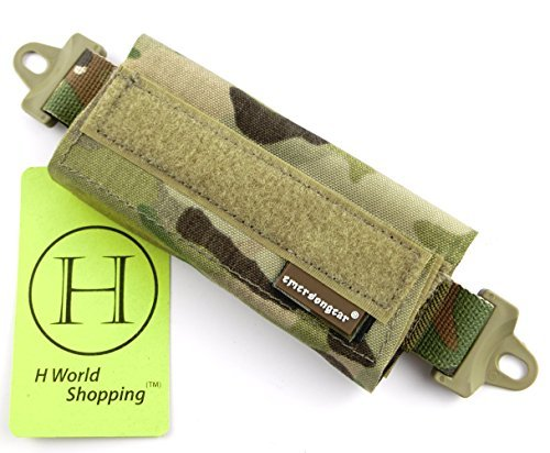 H World Shopping Emerson Tactical Helmet Balancing Weight Bag Counter Balance Battery Pouch for OPS FAST BJ PJ MH Tactical Helmet Accessory (Multicam) by H World Shopping
