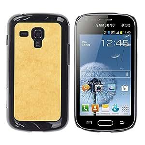 TopCaseStore / la caja del caucho duro de la cubierta de protección de la piel - Yellow Texture - Samsung Galaxy S Duos S7562