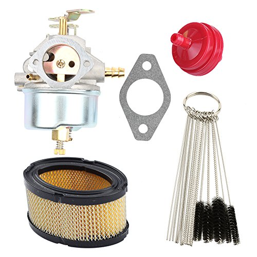 Hilom Carburetor Carb with Air Fuel Filter Cleaner Tool Kit for Tecumseh 632334 632334A 7hp 8hp 9hp HM70 HM80 HMSK80 HMSK90 Snow Blower King Engine Craftsman MTD Sears Replaces Oregon #50-642 by Hilom