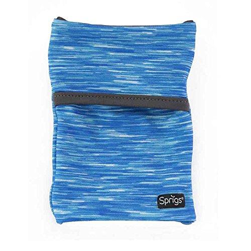 Sprigs Banjees 2 Pocket Wrist Wallet - Blue Melange/Gray, One Size Fits Most (Banjees)
