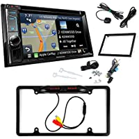 Kenwood DNX573S In-Dash GPS Navigation System 6.2 inch touchscreen dvd receiver double din + Cache Night Vision Car License Plate Rearview Camera - Black CAM810B