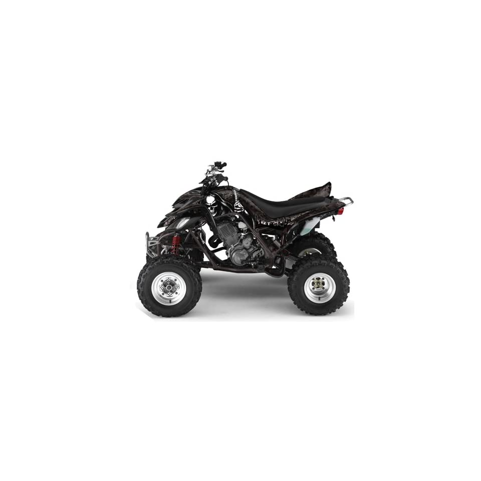 AMR Racing Yamaha Raptor 660 ATV Quad Graphic Kit   Reaper Black