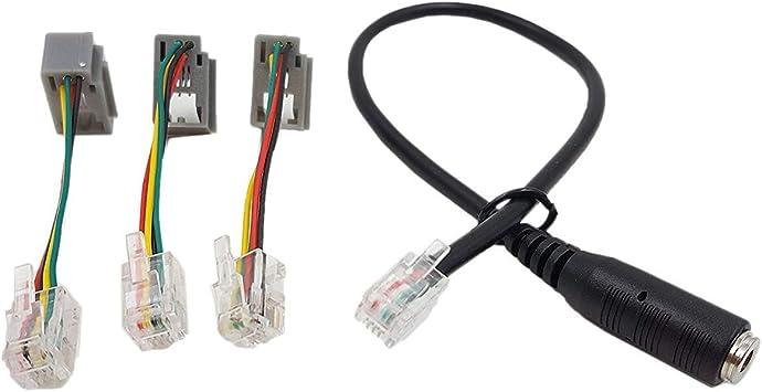 Cable 4P4C RJ9, Cable Adaptador para Auriculares de 3,5 mm para ...