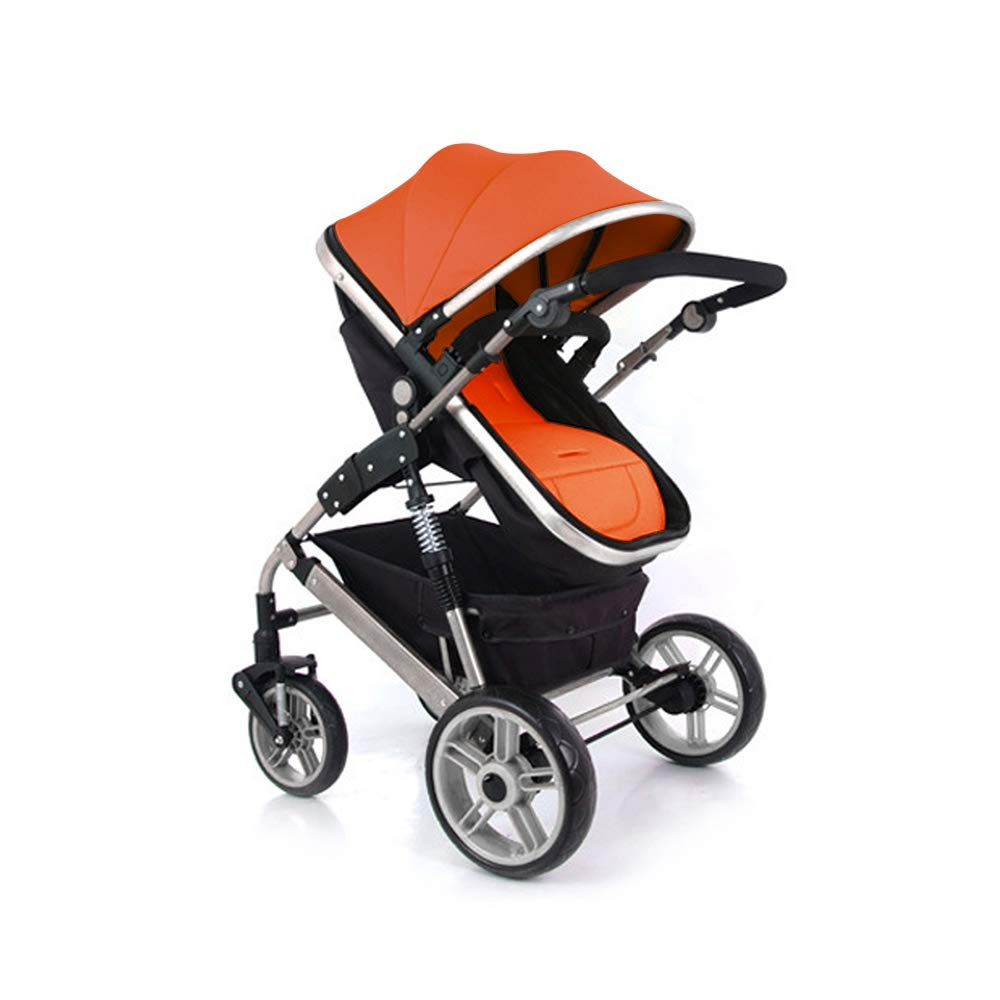 Baby Stroller Cushion Liner,Runaup Comfortable Universal Infant Seat Pad with Baby Pillows Protector Pad for High Landscape Strollers//Car Seat Cushion Orange