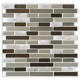 Light Grey Peel and Stick Subway Tile Marble Pattern Backsplash(5)