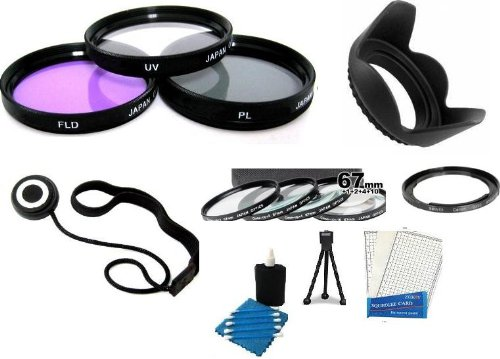 Best value 67mm Lens Filter Kit Includes Necessary Filter Adapter (Replaces FA-DC67A) + 67MM Close Up Lens Kit Includes +1 +2 +4 +10 + 67mm 3pc High Res Filter Kit (UV-CPL-FLD) + Lens Hood + Lens Cap Keeper + Mini Tripod + LCD Screen Protectors + Camera Cleaning Kit For The Canon SX30IS SX30 IS SX40 HS SX40HS Digital Camer