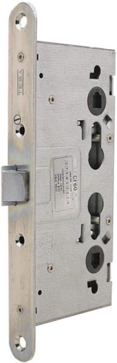 Tesa Assa Abloy 3012480 Cerradura Tesa Antipanico Cf60 Frente, Hierro Zincado, Entrada 65 mm