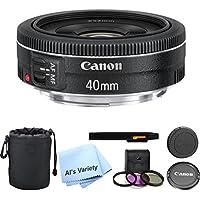 Canon EF 40mm f/2.8 STM Lens Bundle- International Model