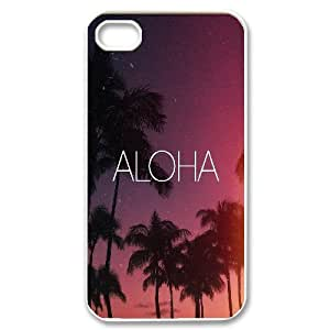 Bloomingbluerose Quote & Funny Quote IPhone 4/4s Case Aloha, {White}