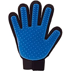 Pet Grooming Cleaning Brush Magic Glove Gliterstar Massage Brush for Long Short Hair Dogs Cats Bunnies Horses (Single(1 right hand), Blue)