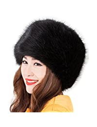 Women's Russian Faux Fox Fur Ushanka Cossack Style Winter Warm Hat