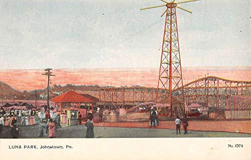 Johnstown Pennsylvania Luna Park Amusement Scene Antique Postcard K105446